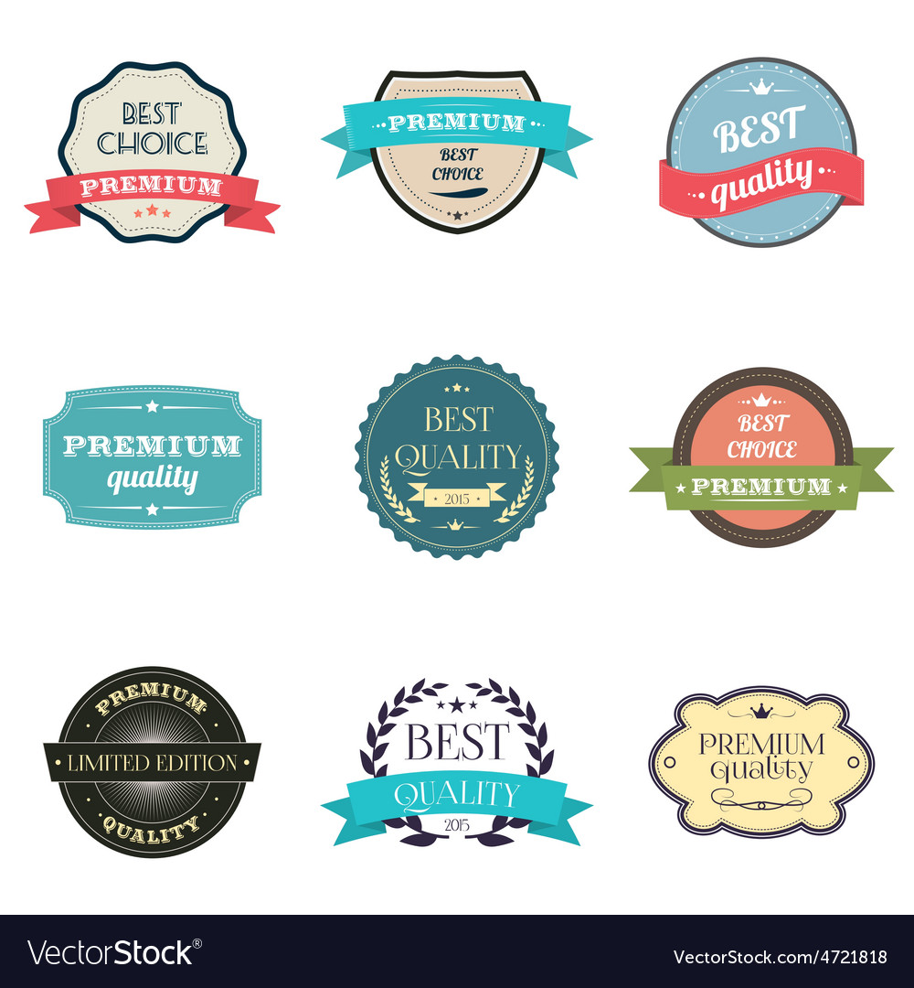 Collection of premium quality labels vector | Price: 1 Credit (USD $1)