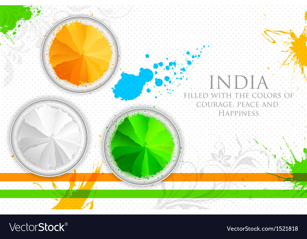Colors of india vector | Price: 1 Credit (USD $1)