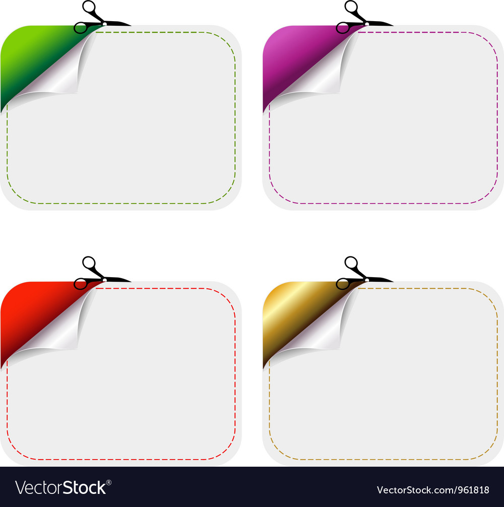 Cutout coupons vector | Price: 1 Credit (USD $1)