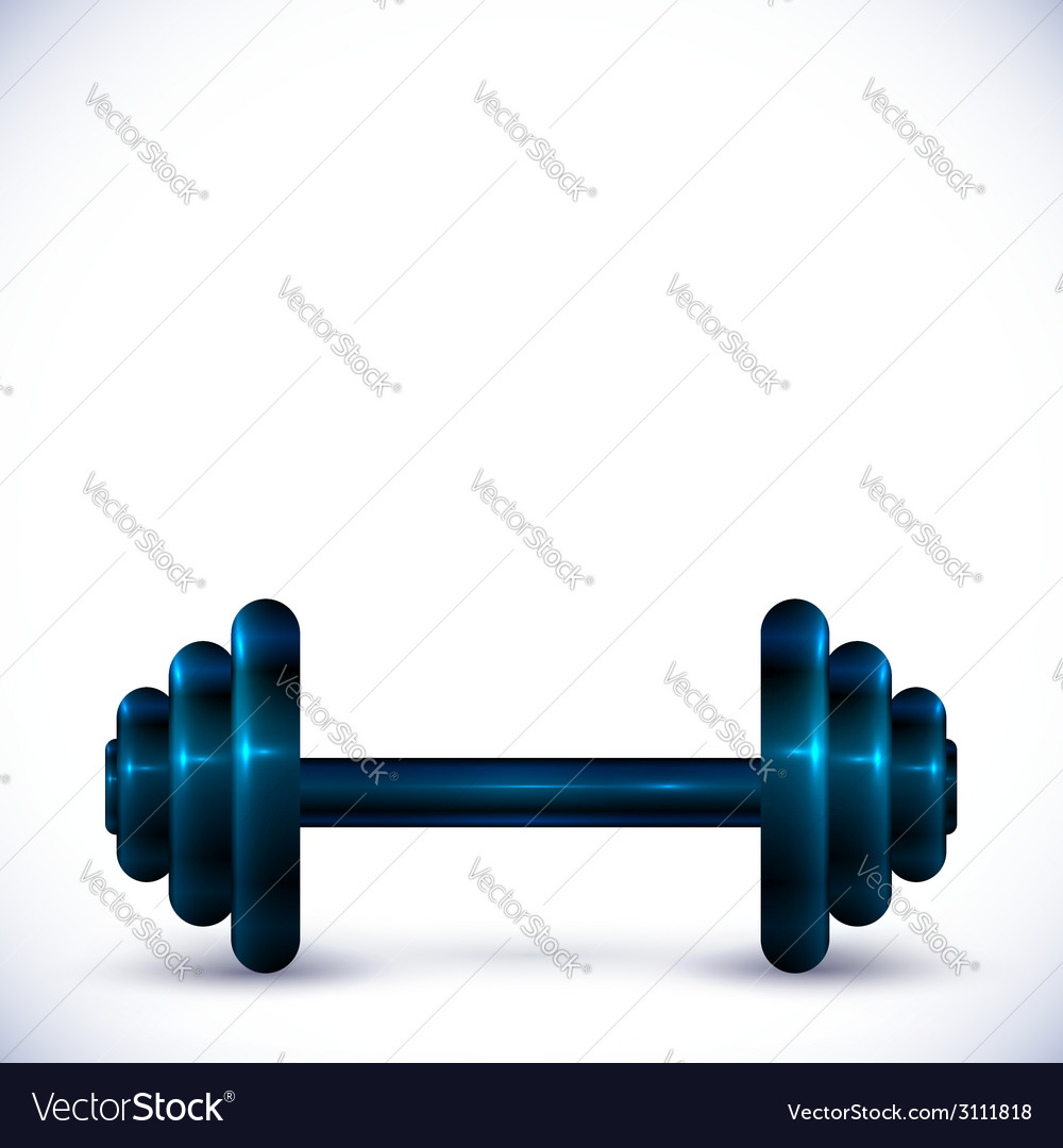 Dumbbell on white background vector | Price: 1 Credit (USD $1)
