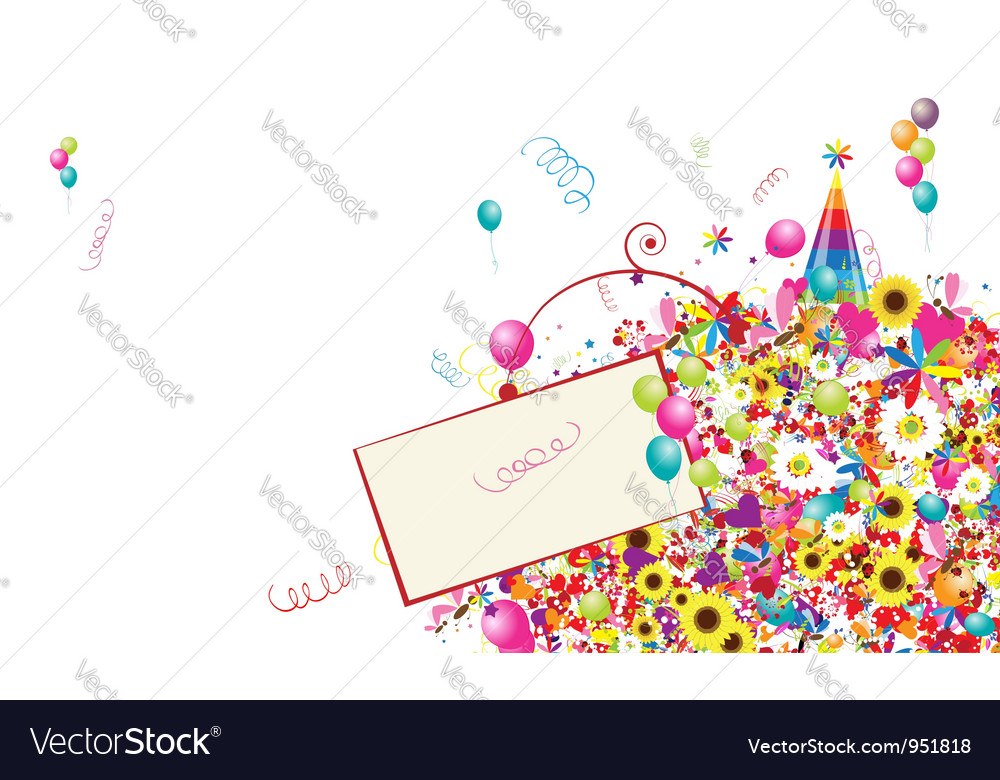 Happy holiday funny background with balloons vector | Price: 1 Credit (USD $1)
