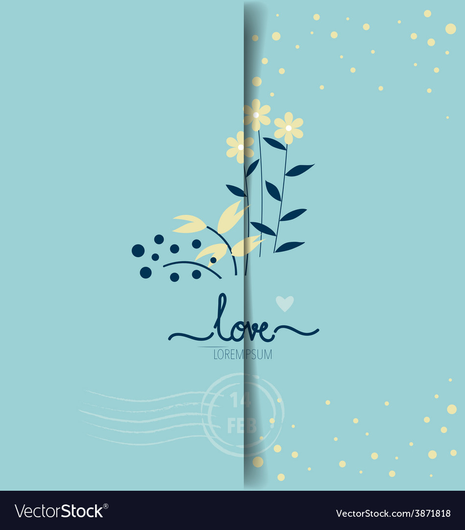Happy valentines day greeting card design vector | Price: 1 Credit (USD $1)