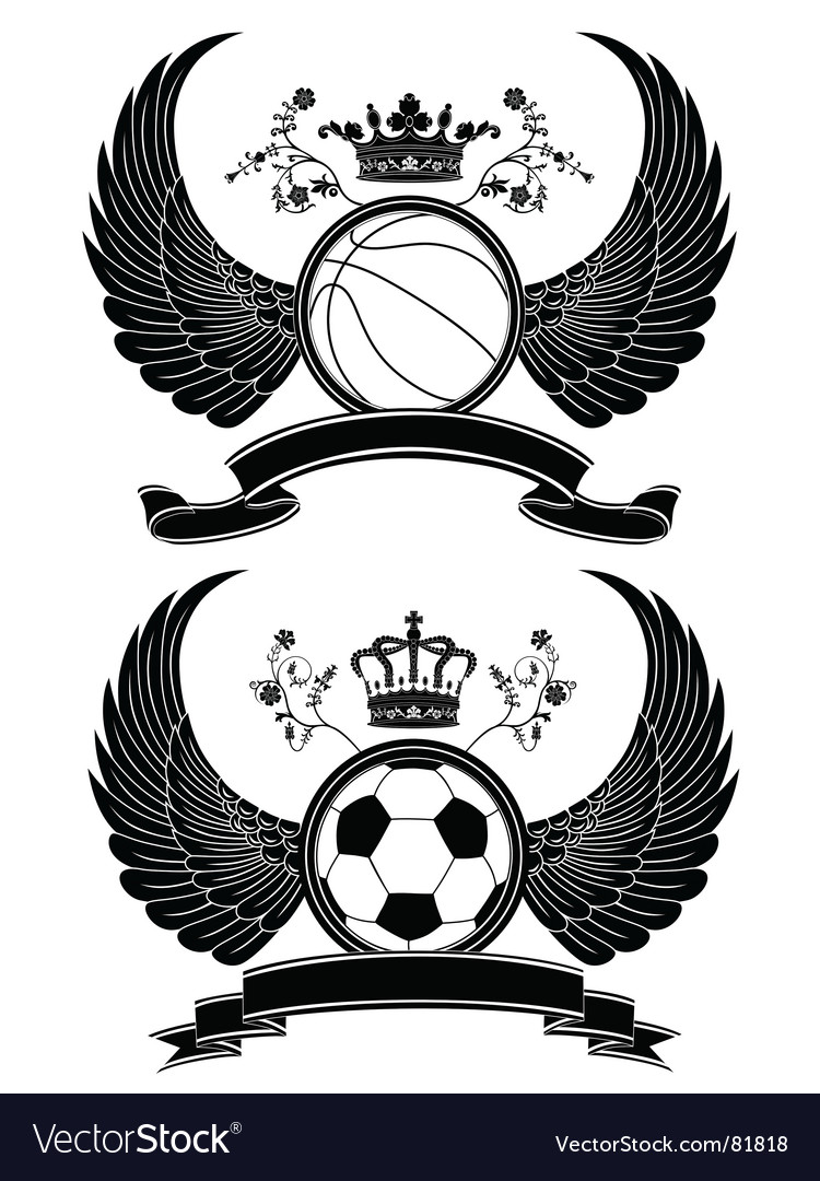 Heraldic sport pattern vector | Price: 1 Credit (USD $1)