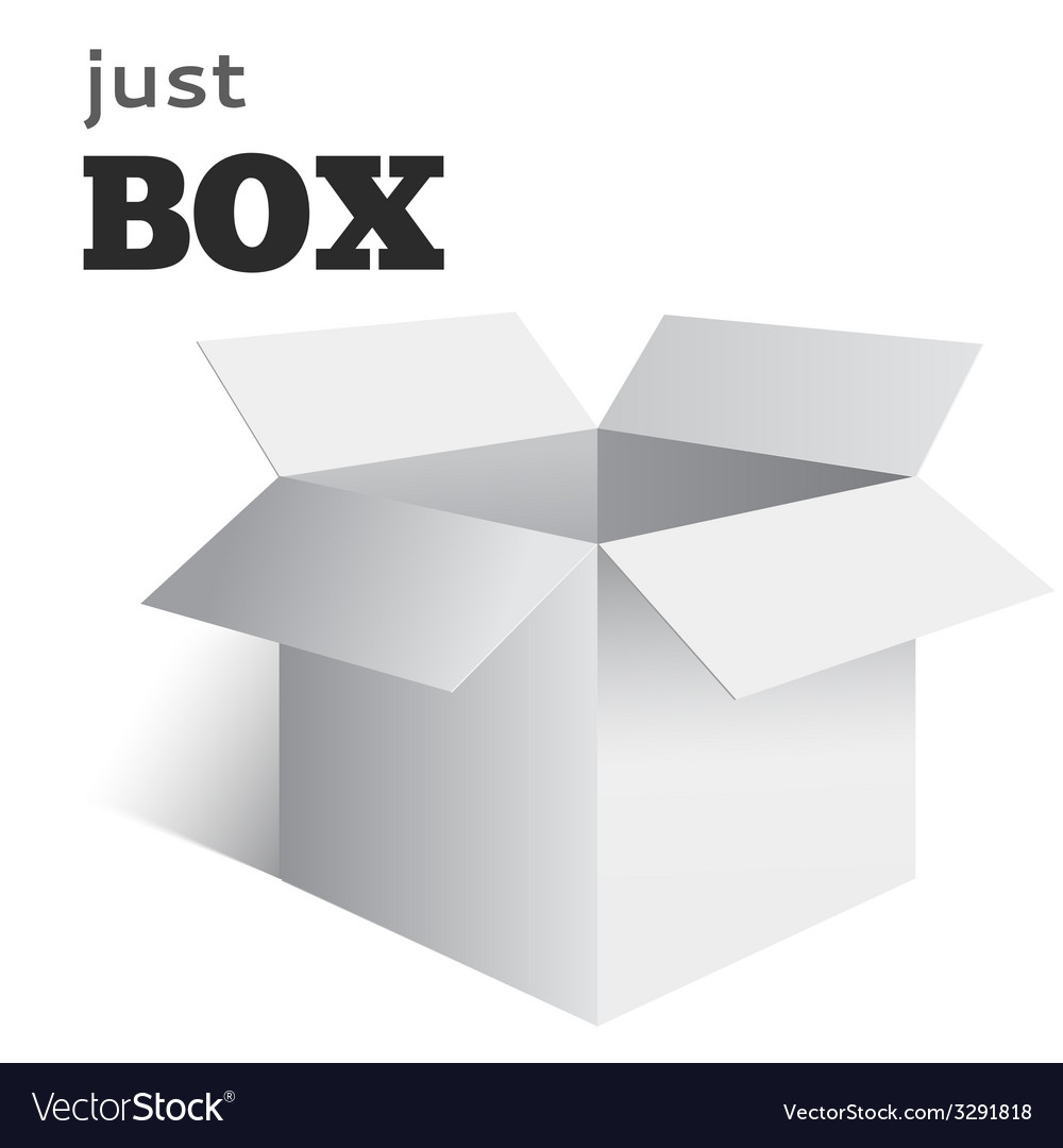 Open box vector | Price: 1 Credit (USD $1)