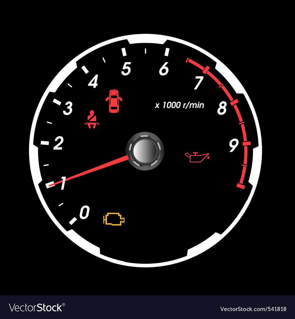 Rpm gauge vector | Price: 1 Credit (USD $1)