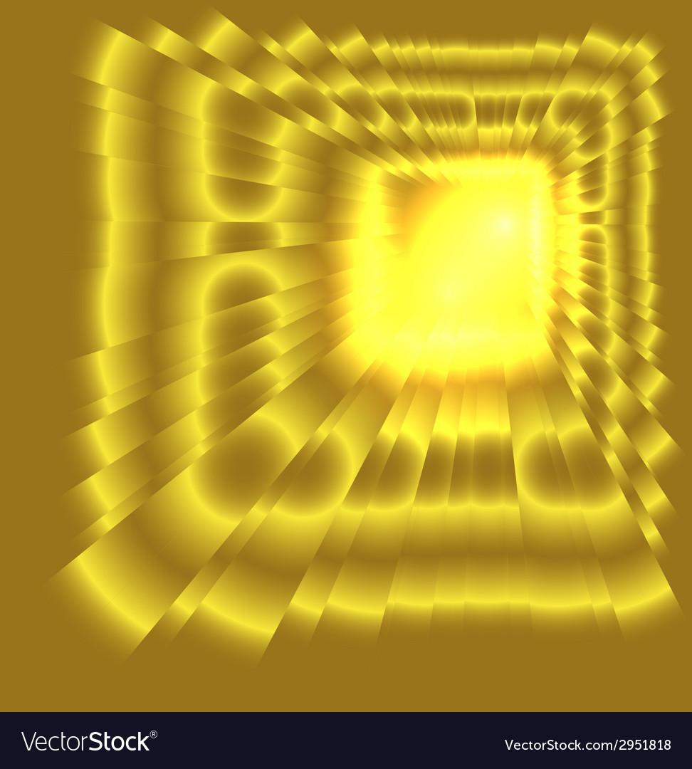 See burst light on golden background vector | Price: 1 Credit (USD $1)