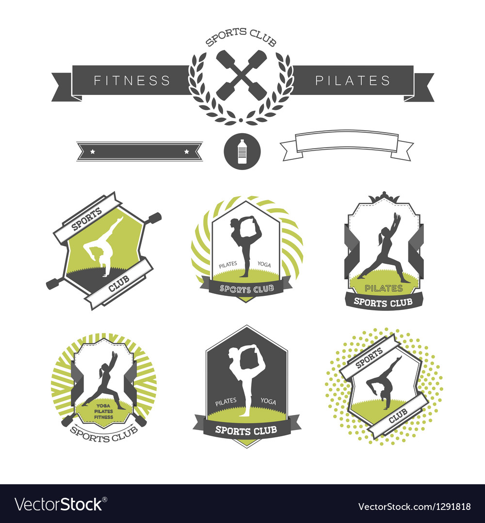 Set of sports clubs badges vector | Price: 1 Credit (USD $1)