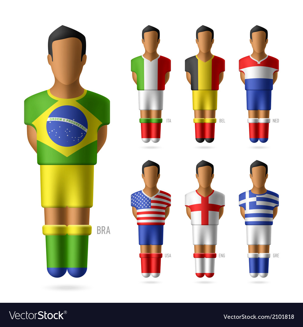 Soccer football players vector | Price: 1 Credit (USD $1)