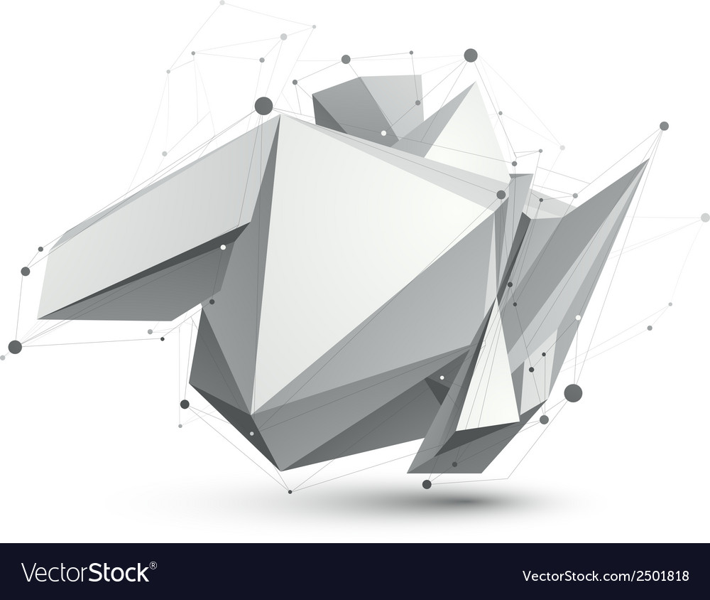 Triangular abstract grayscale 3d shape digital vector   Price: 1 Credit (USD $1)