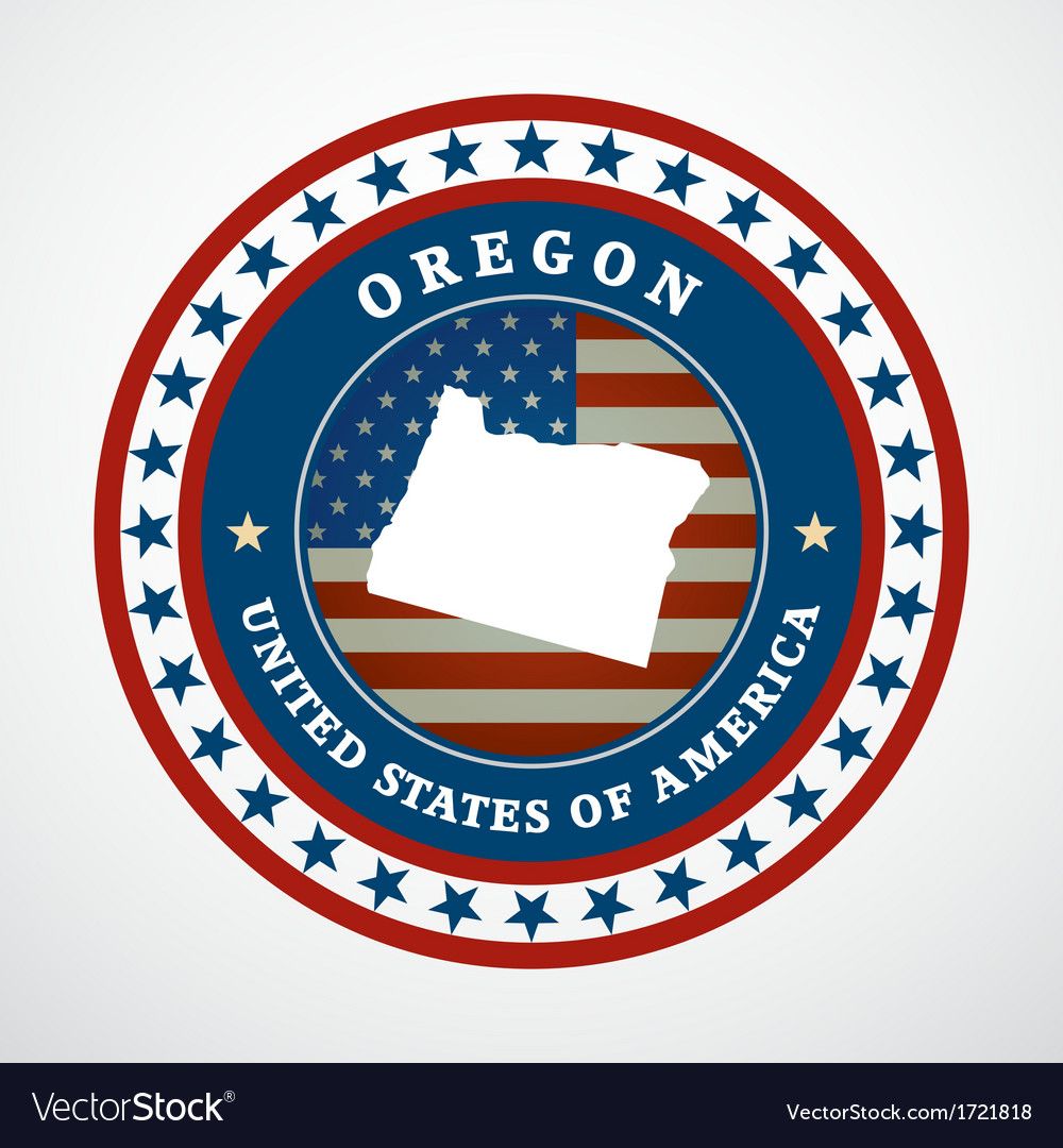 Vintage label oregon vector | Price: 1 Credit (USD $1)
