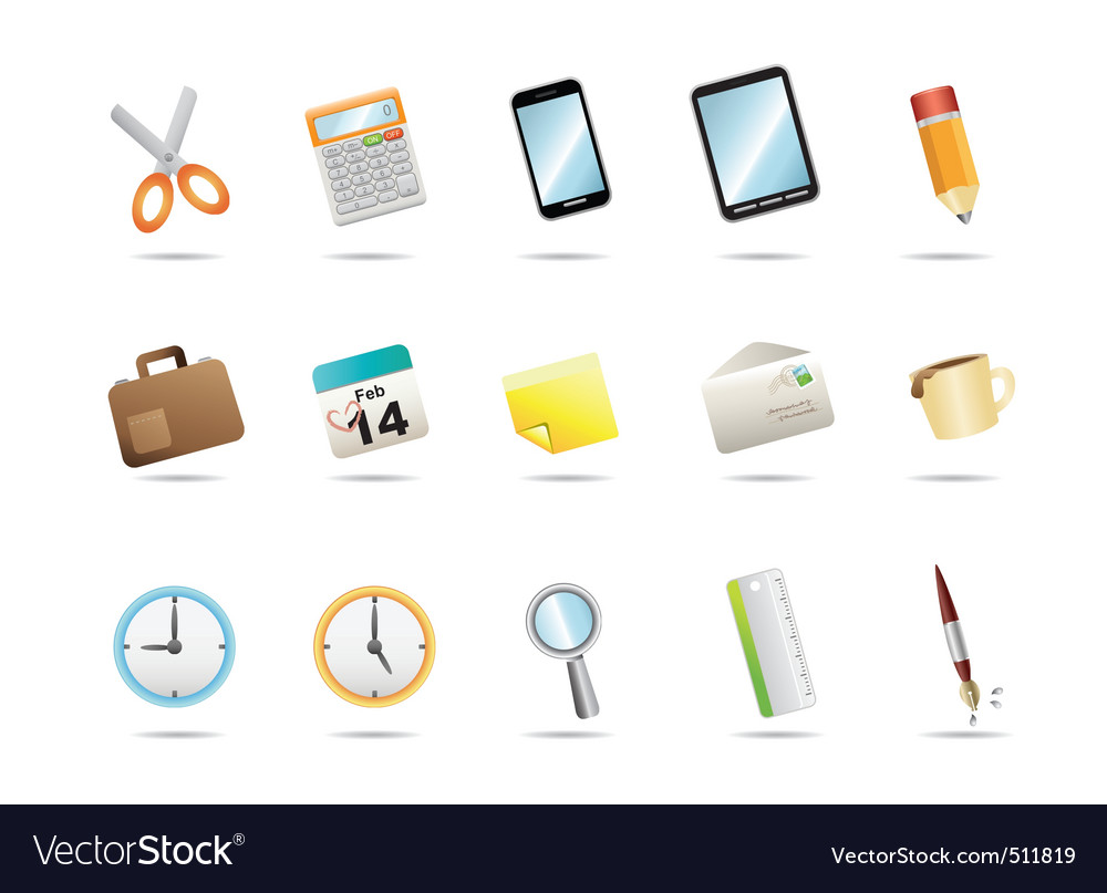 15icon for office stationery vector | Price: 3 Credit (USD $3)