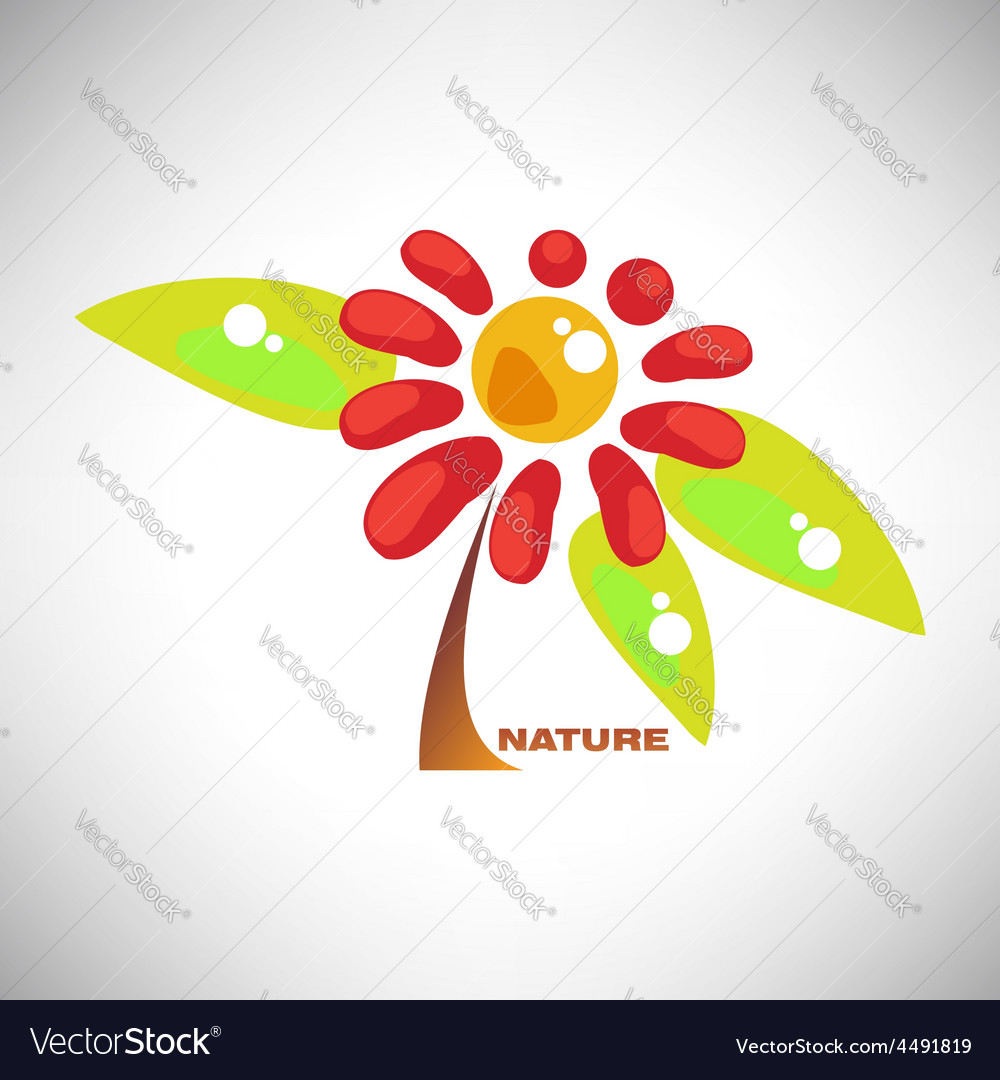 Abstract colorful camomile vector   Price: 1 Credit (USD $1)