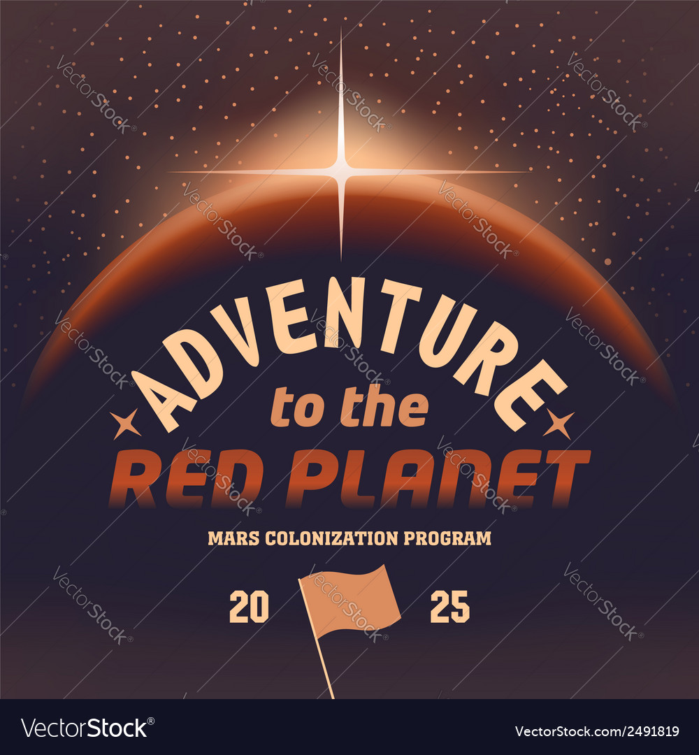 Adventure to the red planet vector | Price: 1 Credit (USD $1)