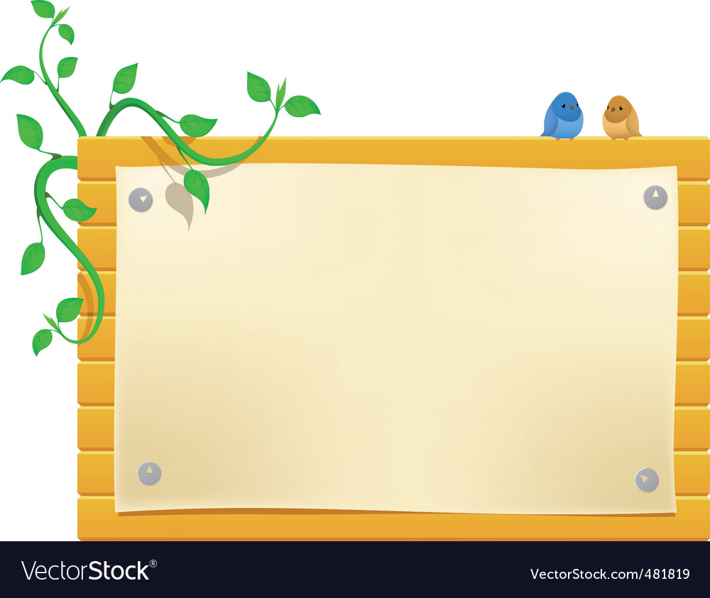 Cartoon billboard with little birds vector | Price: 1 Credit (USD $1)
