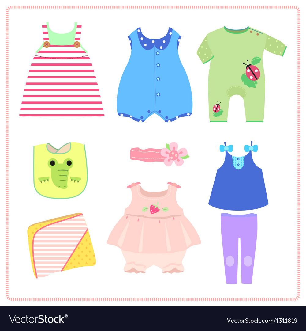 Children wear vector | Price: 3 Credit (USD $3)