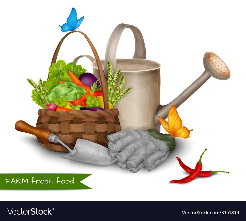 Farm fresh food concept vector | Price: 1 Credit (USD $1)