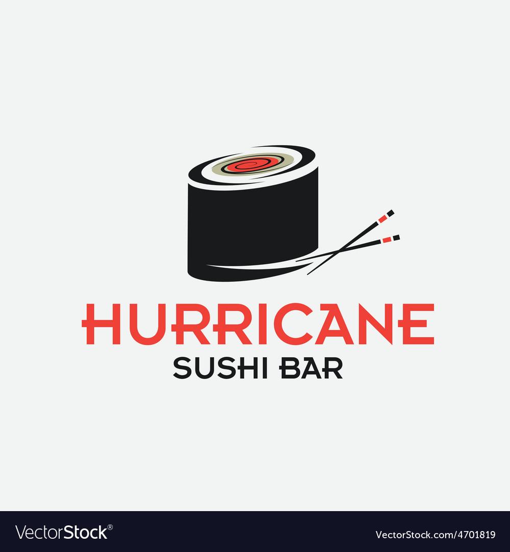 Hurricane sushi bar design template vector | Price: 1 Credit (USD $1)