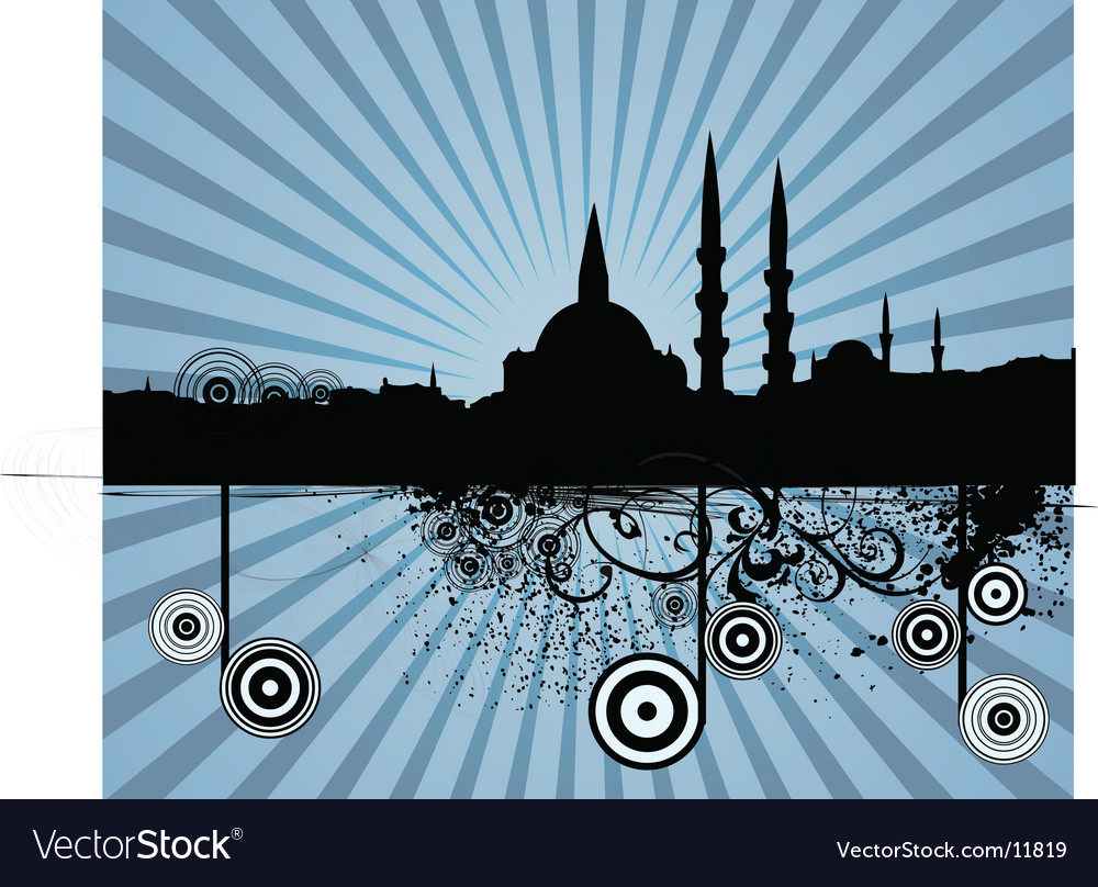 Middle eastern city vector | Price: 1 Credit (USD $1)