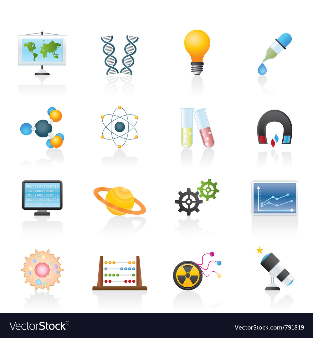 Research and education icons vector | Price: 3 Credit (USD $3)