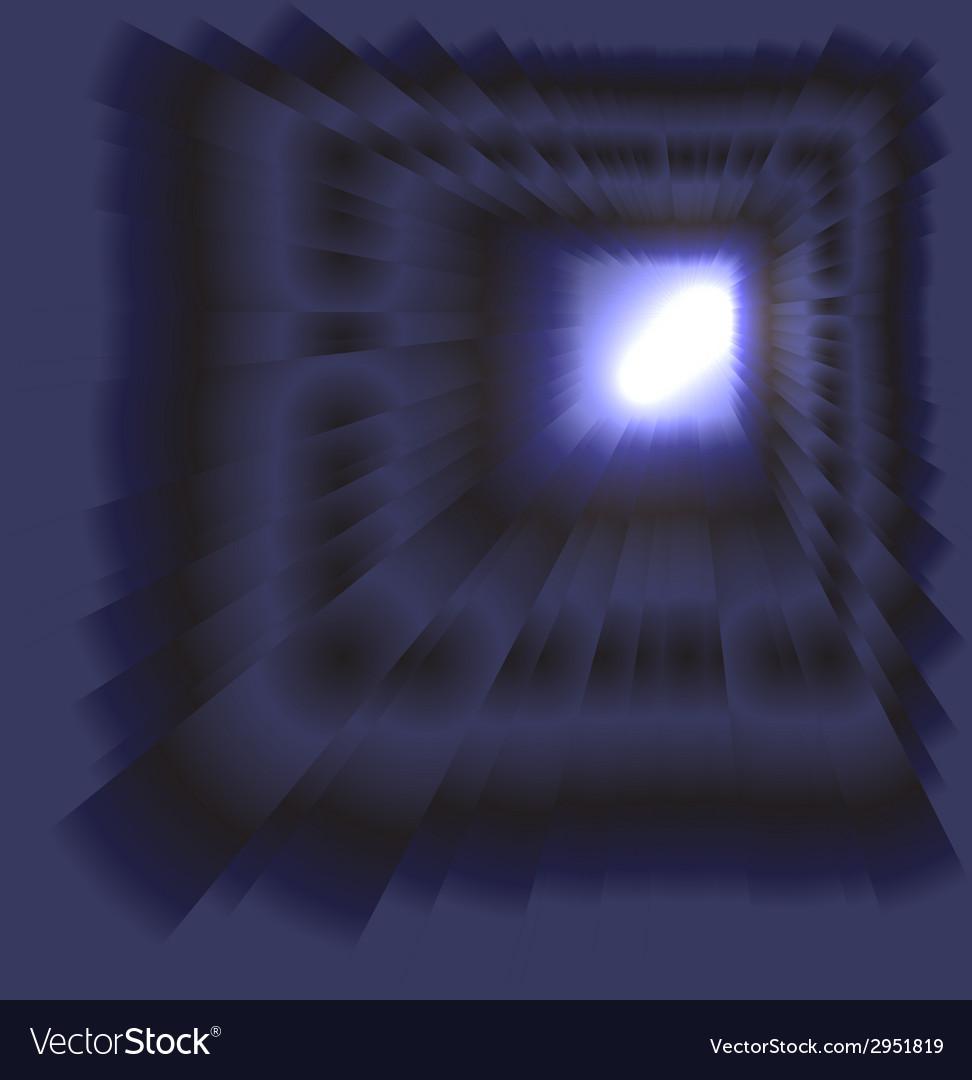 See burst light on dark background vector | Price: 1 Credit (USD $1)