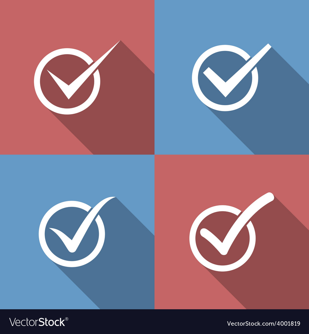 Set of check mark check box icons vector | Price: 1 Credit (USD $1)