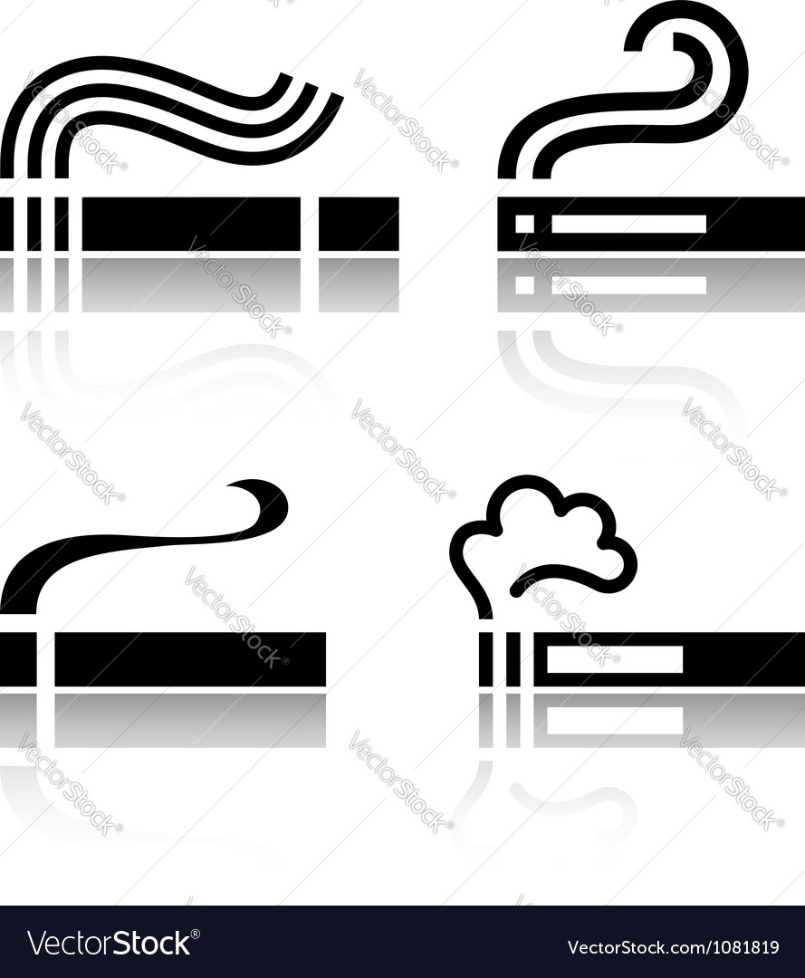 Set of cigarettes vector | Price: 1 Credit (USD $1)