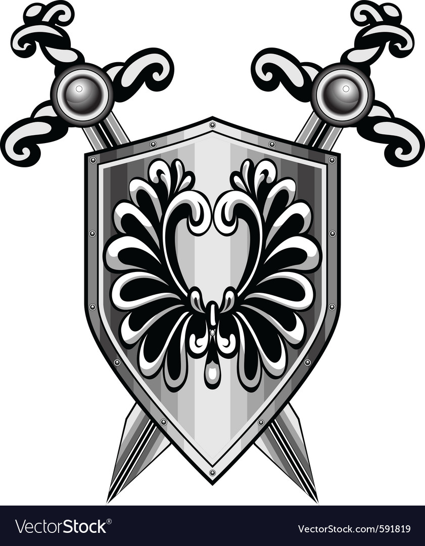 Shield heraldry vector | Price: 1 Credit (USD $1)
