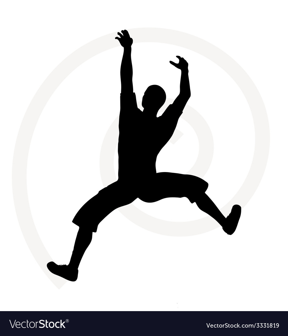 Silhouette of senior climber man vector | Price: 1 Credit (USD $1)