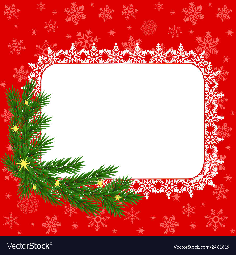 Snowflakes fhave and fir sprig vector | Price: 1 Credit (USD $1)