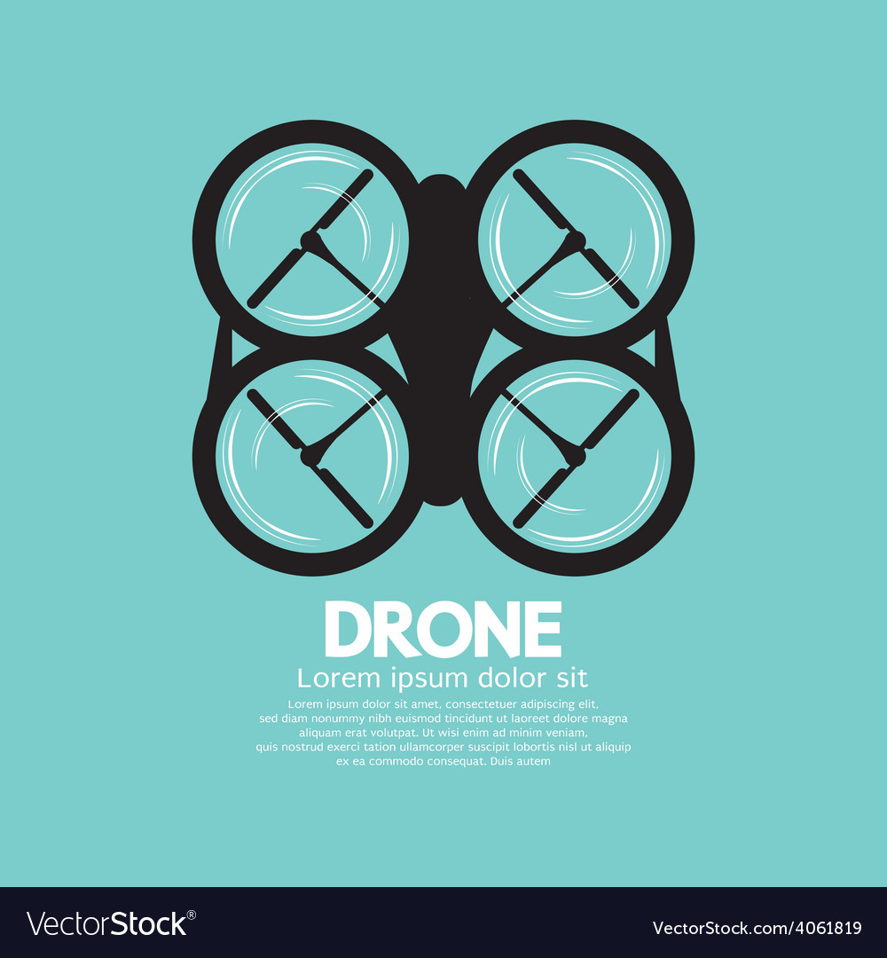 Top view of drone vector | Price: 1 Credit (USD $1)