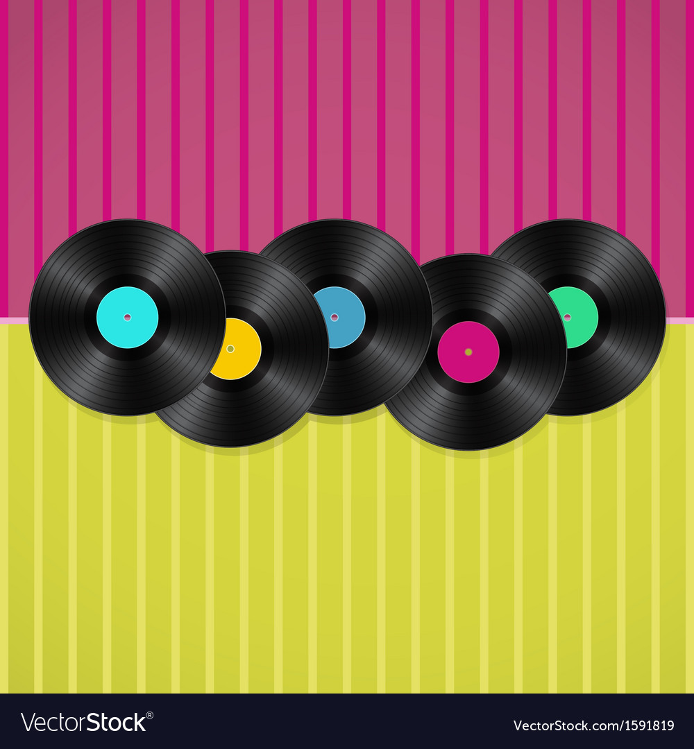 Vinyls background vector   Price: 1 Credit (USD $1)