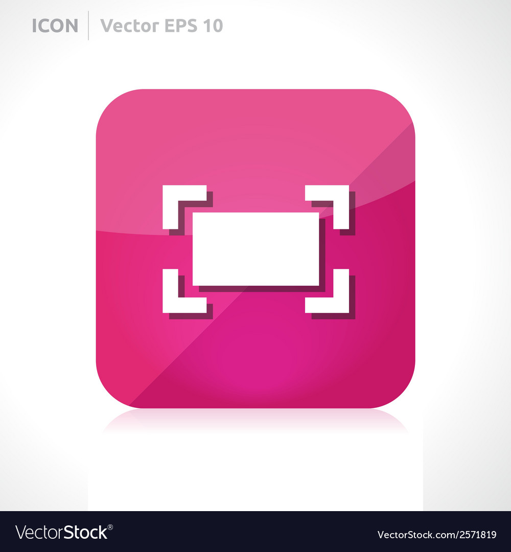 Zoom maximize icon vector | Price: 1 Credit (USD $1)