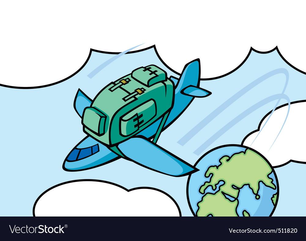 Airplane knapsack vector | Price: 1 Credit (USD $1)