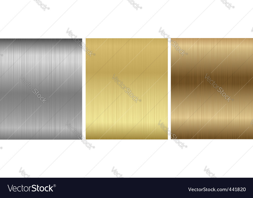 Aluminum bronze brass stitched textures vector | Price: 1 Credit (USD $1)