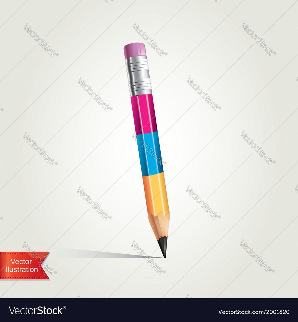 Creative pencil vector | Price: 1 Credit (USD $1)