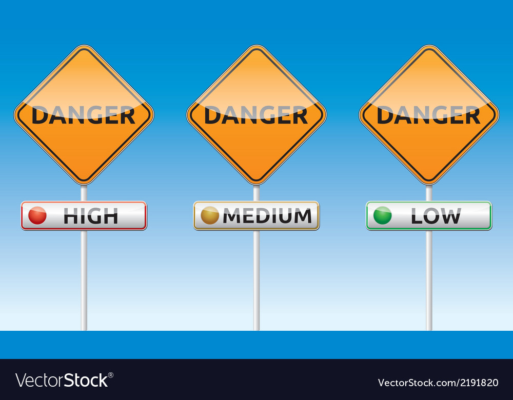 Danger - high medium low traffic board vector | Price: 1 Credit (USD $1)