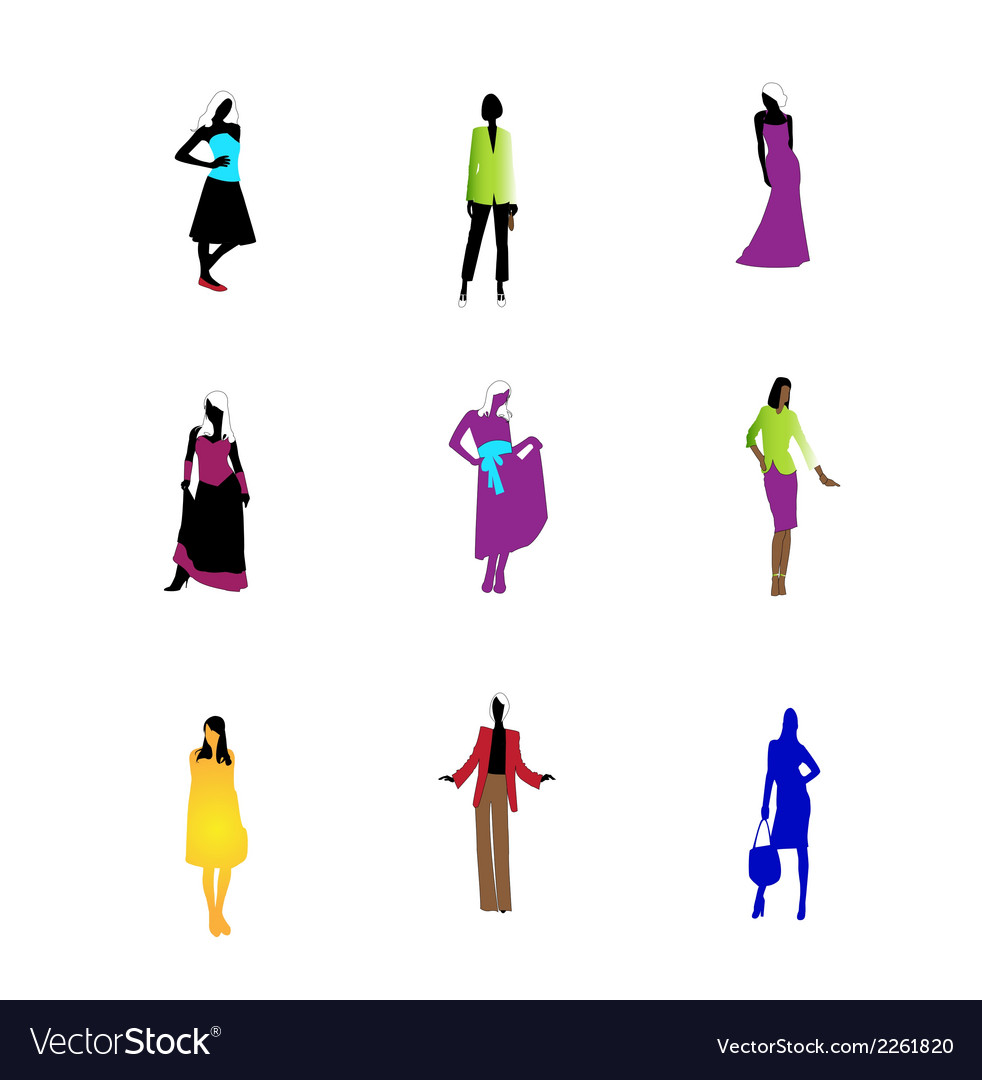 Fashion girls icon symbol art vector | Price: 1 Credit (USD $1)
