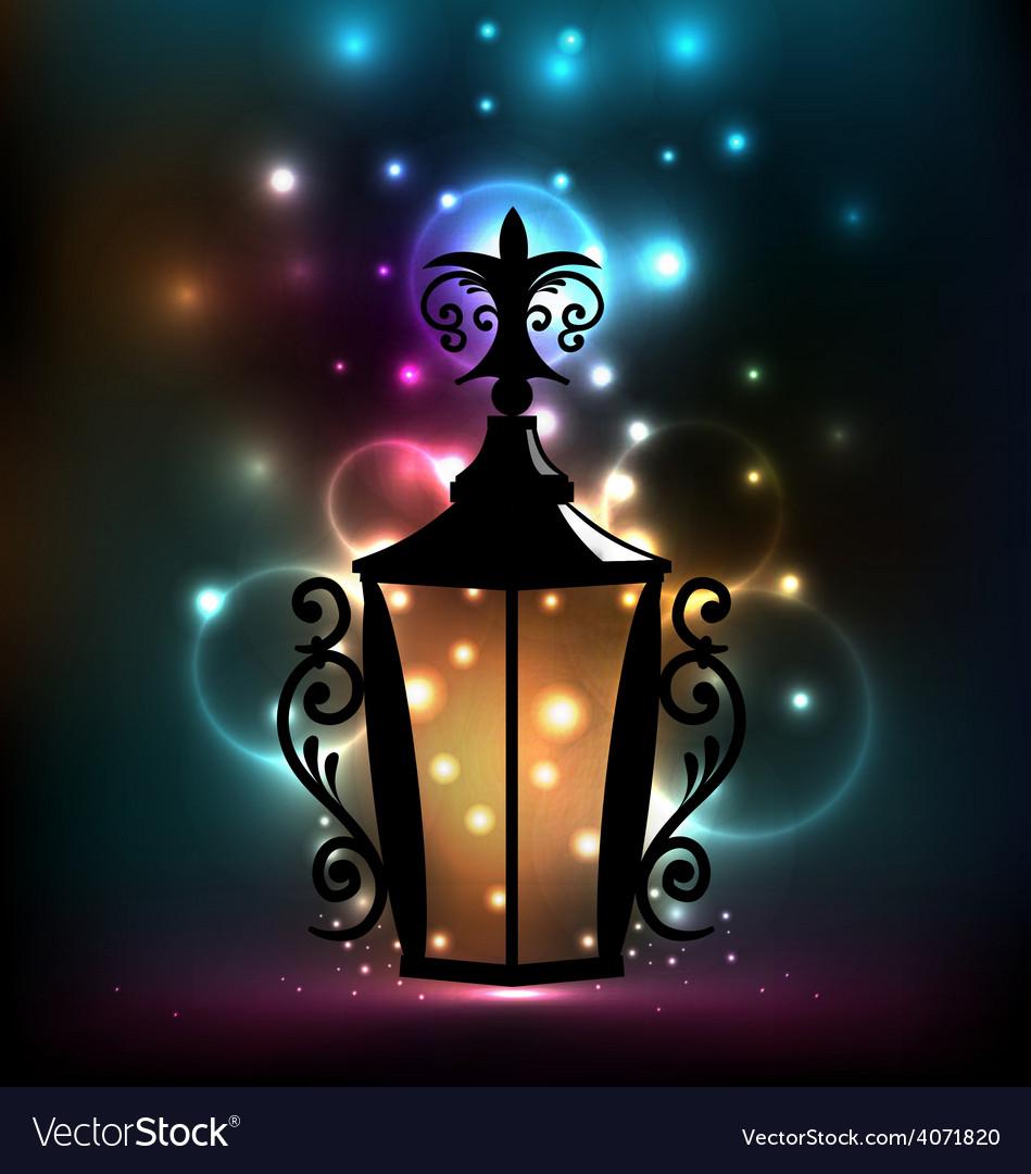 Forging lantern for ramadan kareem vector   Price: 1 Credit (USD $1)