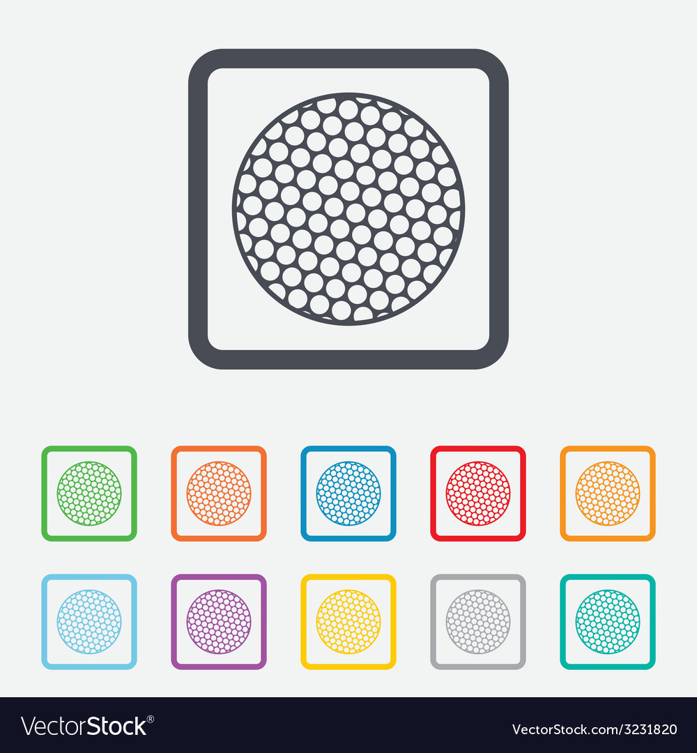 Golf ball sign icon sport symbol vector | Price: 1 Credit (USD $1)