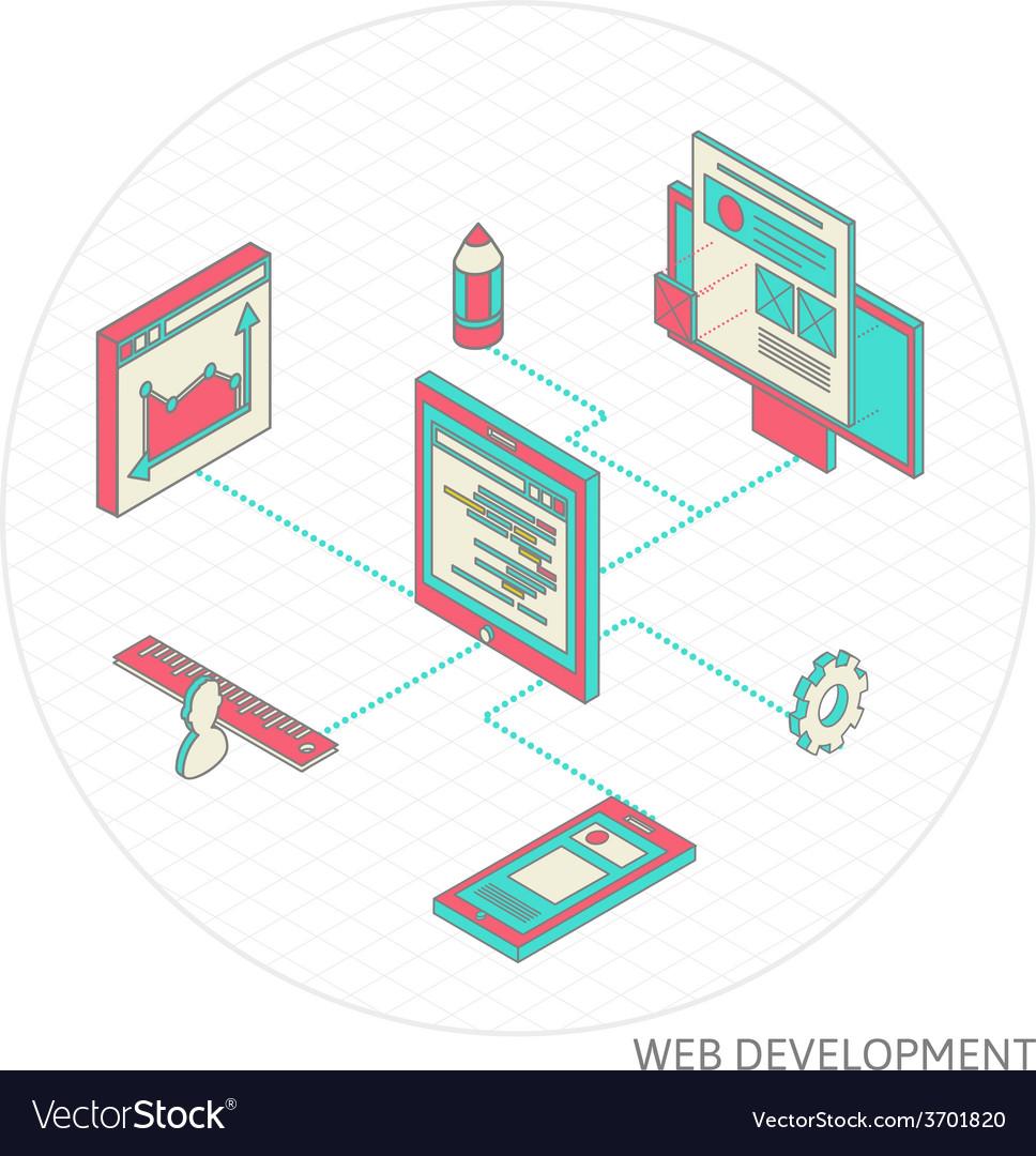 Isometric of website analytics vector   Price: 1 Credit (USD $1)