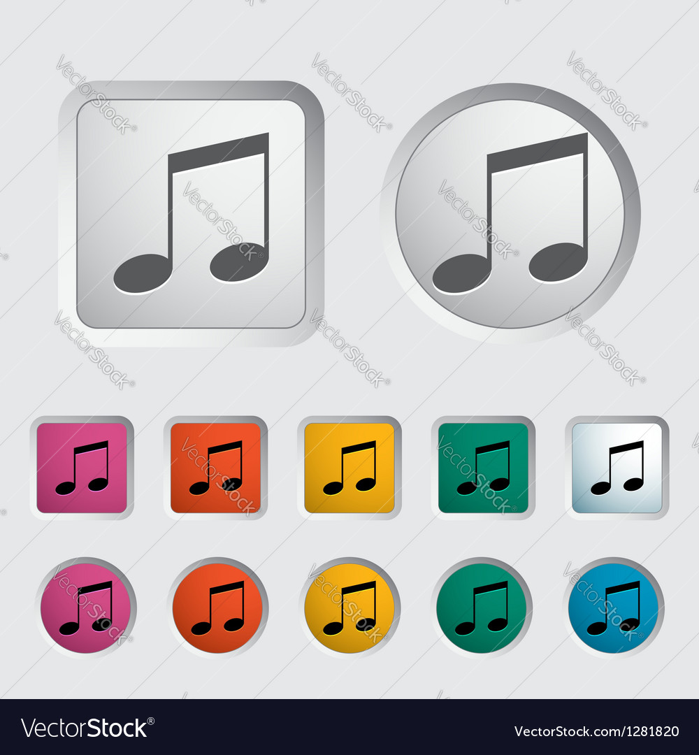 Note music icon vector | Price: 1 Credit (USD $1)