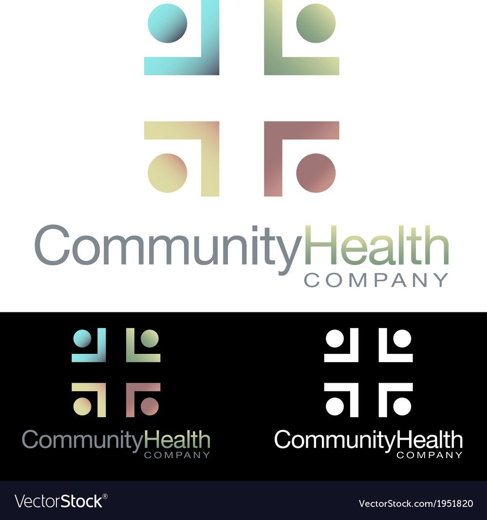 Social community health icon logo vector | Price: 3 Credit (USD $3)