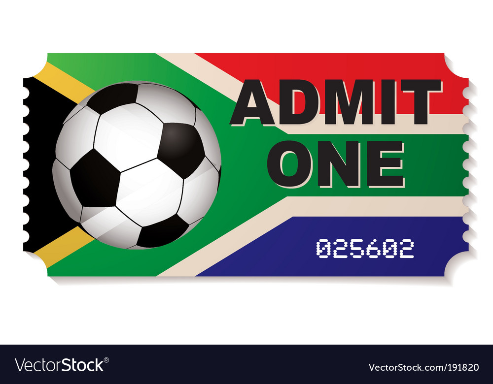 South africa football ticket vector | Price: 1 Credit (USD $1)