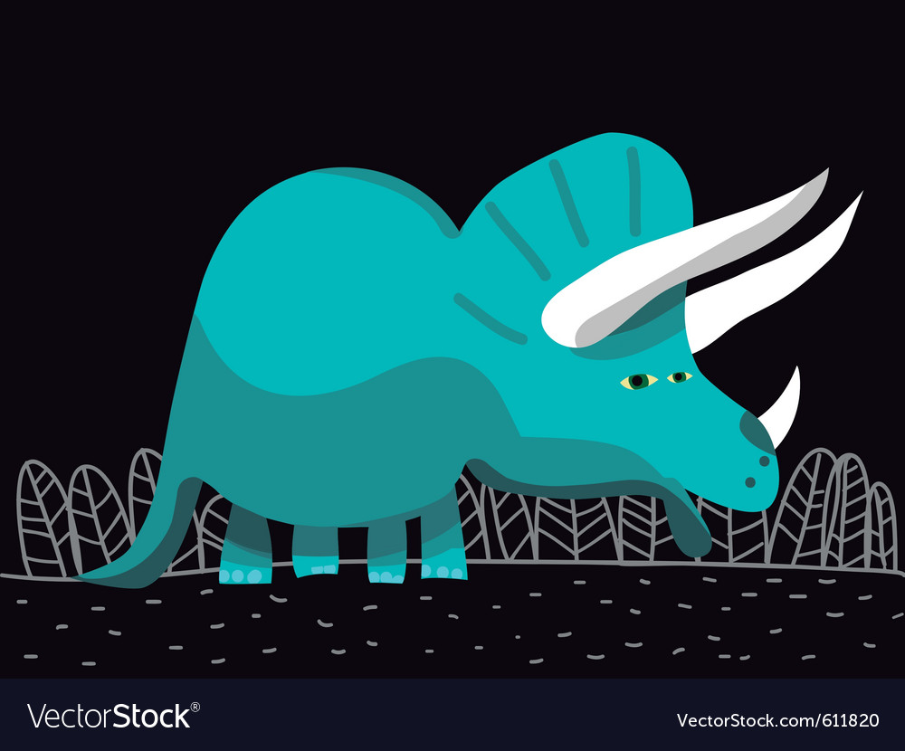 Triceratops dinosaur cartoon vector | Price: 1 Credit (USD $1)