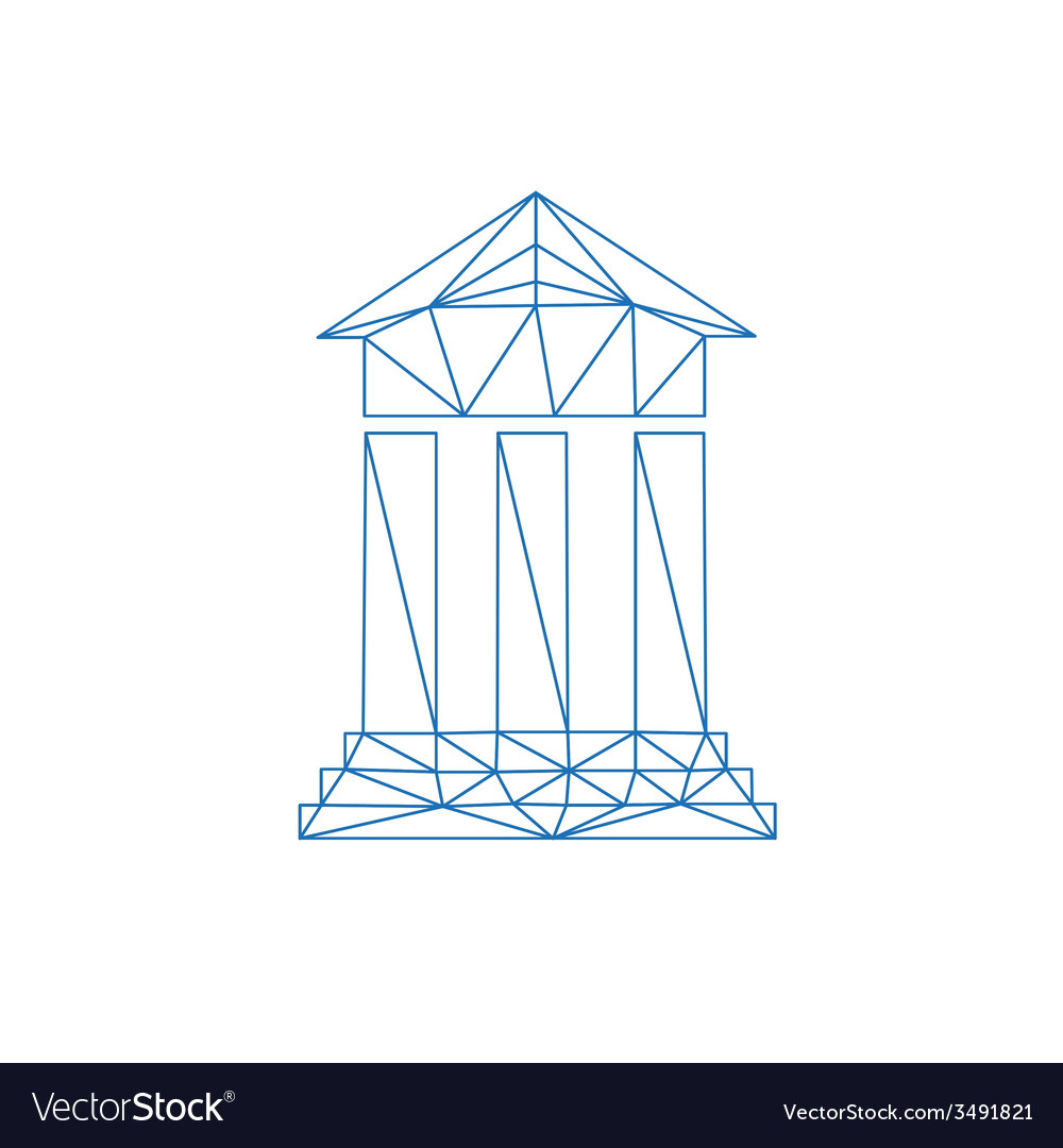 Architecture icon abstract vector | Price: 1 Credit (USD $1)