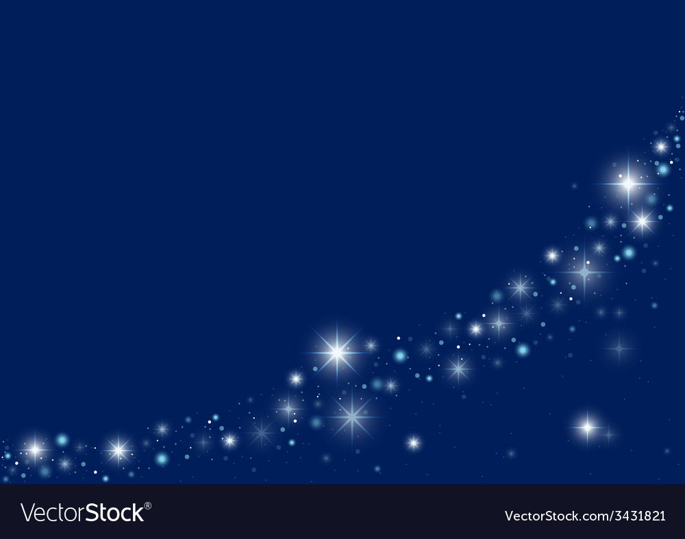 Blue starry christmas background vector | Price: 1 Credit (USD $1)