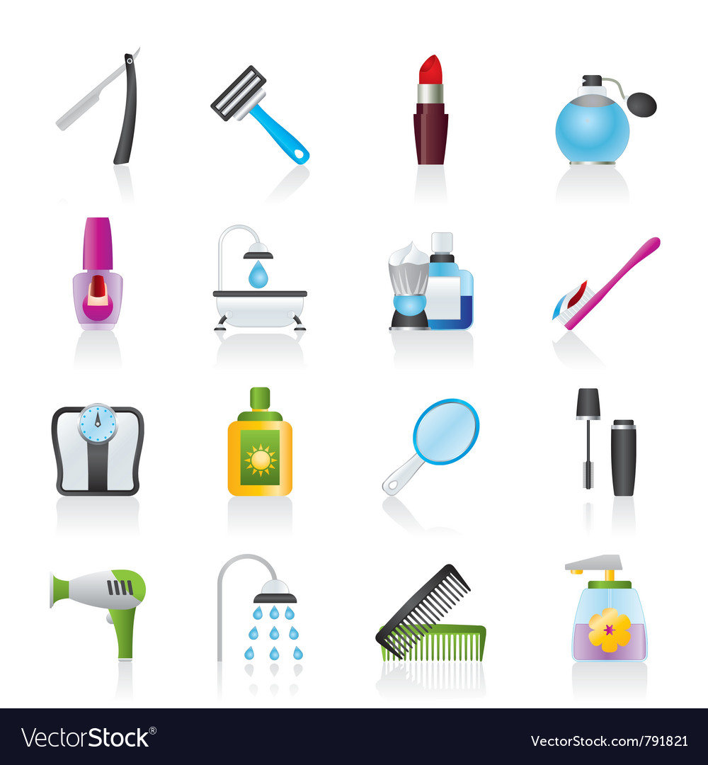Body care and cosmetics icons vector | Price: 3 Credit (USD $3)