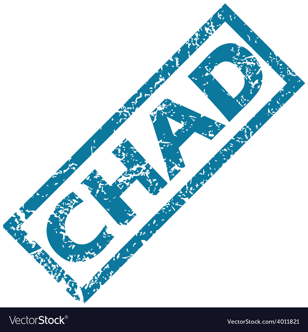 Chad rubber stamp vector   Price: 1 Credit (USD $1)
