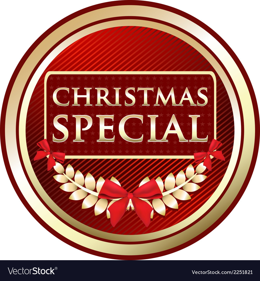 Christmas special gold label vector | Price: 1 Credit (USD $1)