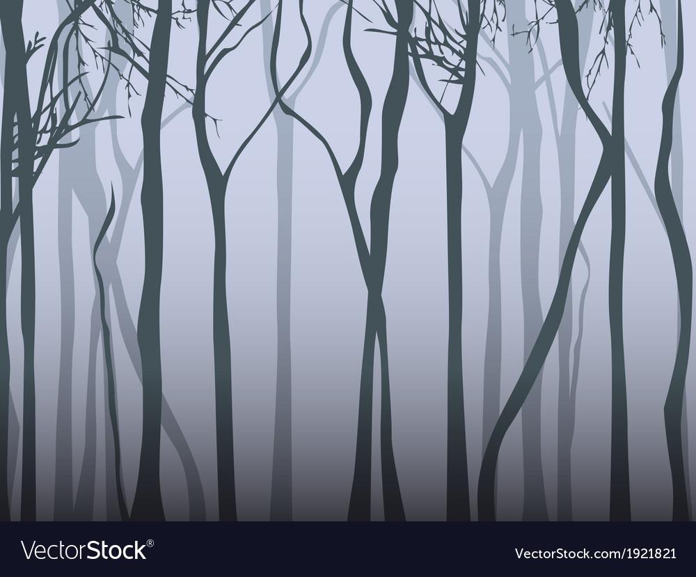 Dark fog forest vector | Price: 1 Credit (USD $1)